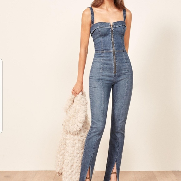 51b74377dcb8 Reformation Crawford Jumpsuit- Size 4